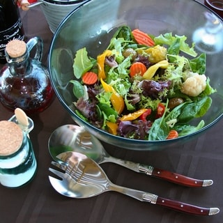 French Home 2 Piece Laguiole Connoisseur Rosewood Salad Servers