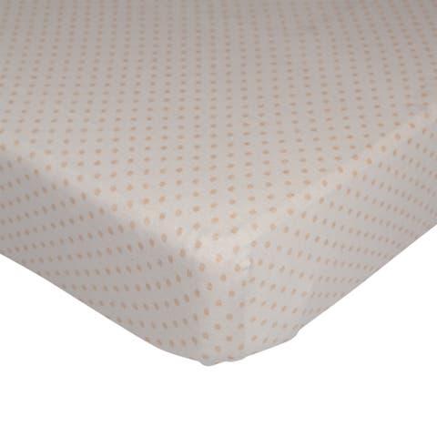 Lolli Living Jersey Polka Dot Organic Fitted Crib Sheet