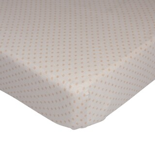 Lolli Living Jersey Polka Dot Organic Fitted Crib Sheet