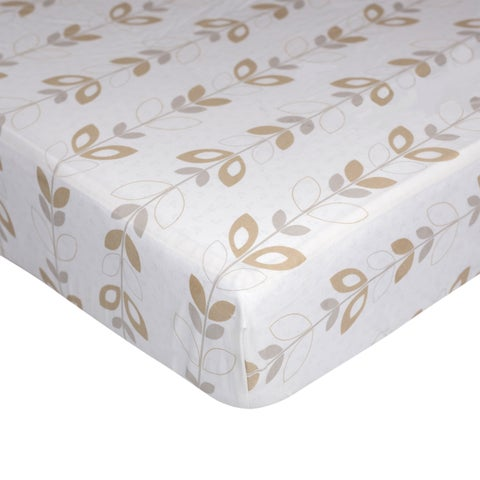 Lolli Living Leaves Fitted Crib Sheet