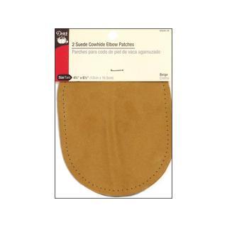 Dritz Patch Sew On 4.75x 6.5 Suede Elbow Beige 2pc