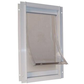 Ideal Pet Products DDMW 9-1/16 X 14-15/16 Medium White Deluxe Pet Door