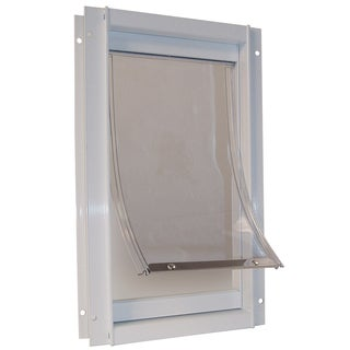 Ideal Pet Products DDMW 9-1/16 X 14-15/16 Medium White Deluxe Pet Door