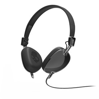 Skullcandy Navigator On-Ear Headphones in Black Mic 3