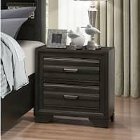 Carbon Loft Pavlov Antique Grey Finish Wood 2-drawer Nightstand