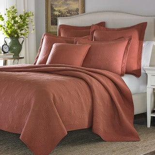Stone Cottage Arbor Cayenne Quilted European Sham Set