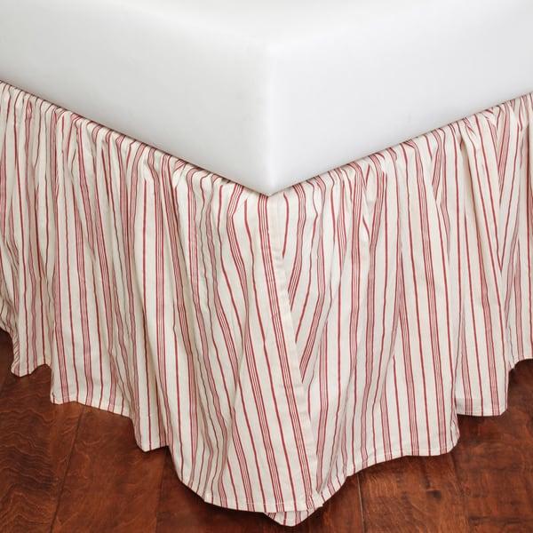 Joyful Stripe Cotton Queen-size Bed Skirt