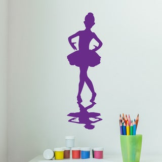 Style and Apply Little Ballerina Pink Vinyl Wall Decal Sticker