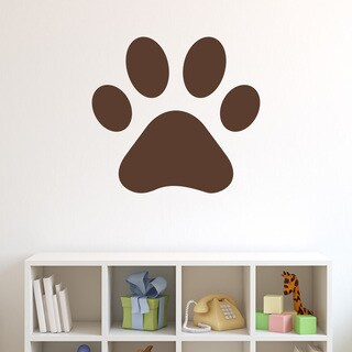 Style and Apply Black Vinyl 40 x 37 Pawprint Wall Decal Sticker