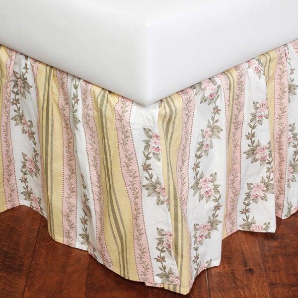 Celine Pink Cotton 18-inch Drop Bed Skirt
