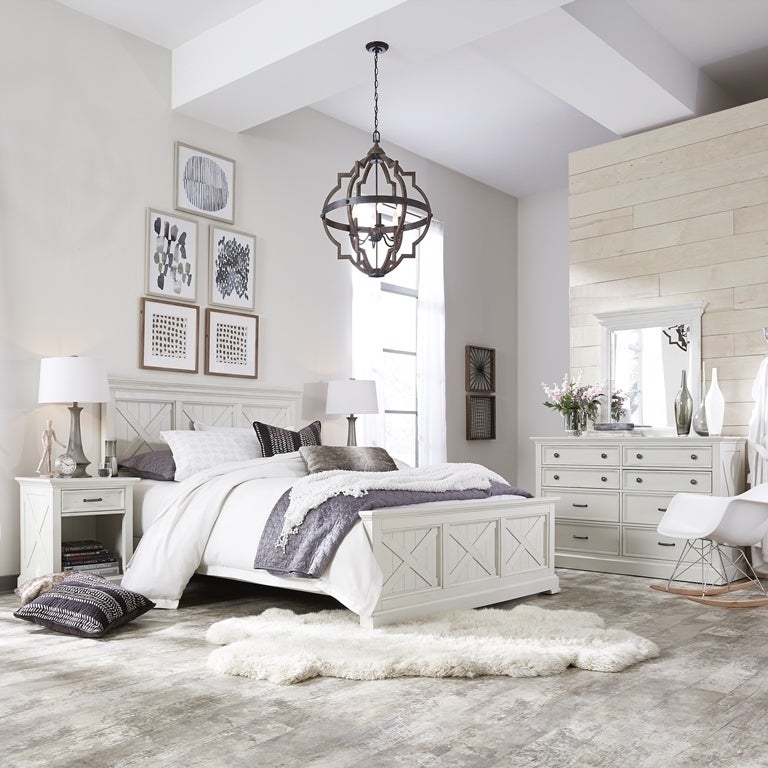 Seaside Lodge Queen Bed, Night Stand and Chest, with Dresser and ...
