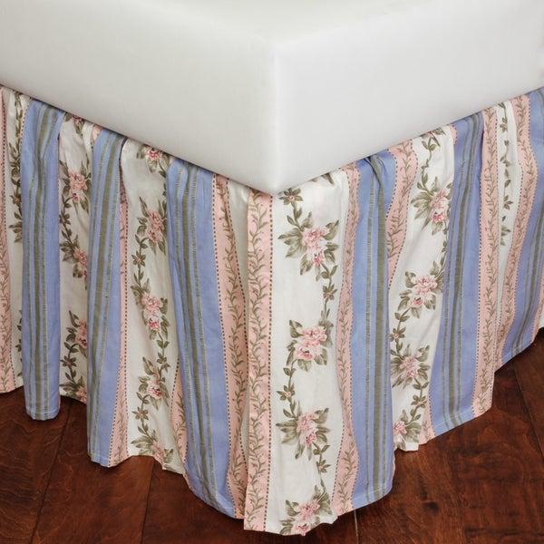 Celine Corn Flower Blue Cotton 18-inch Drop Bed Skirt