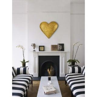 Renwil Gold Resin Heart-shaped Wall Art