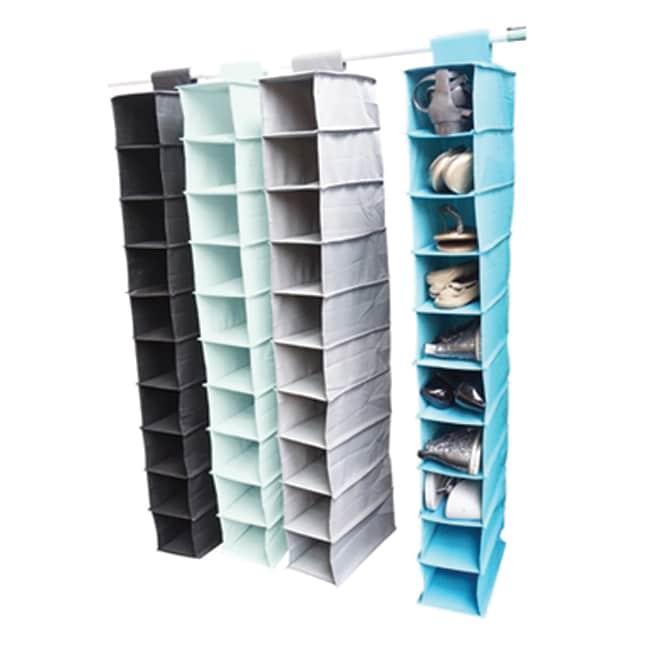 Hanging Shoe Shelves (Set of 2) - Tusk Storage (Black) (P...