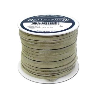 "Silver Creek Suede Lace 1/8""x25yd Ivory"