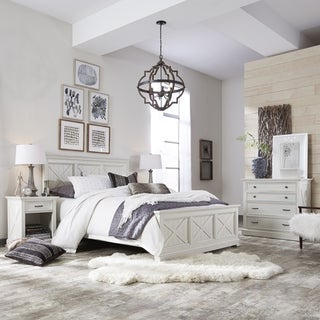 Link to The Gray Barn Riverbone X-detail Queen Bed, Nightstand, and Chest Similar Items in Bedroom Furniture