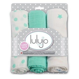 Lulujo Dreamland Mini Muslin Cloth (3 Pack)