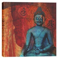 Epic Graffiti Elena Ray 'Blue Buddha' Giclee Canvas Wall Art