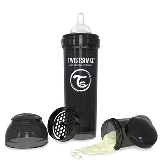 Twistshake Black 11-ounce Anti-Colic Bottle