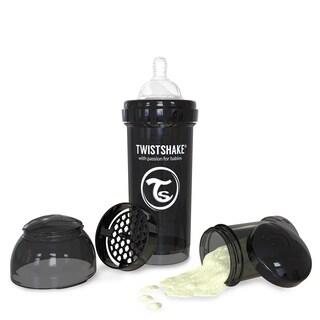 Twistshake Black 8-ounce Anti-Colic Bottle
