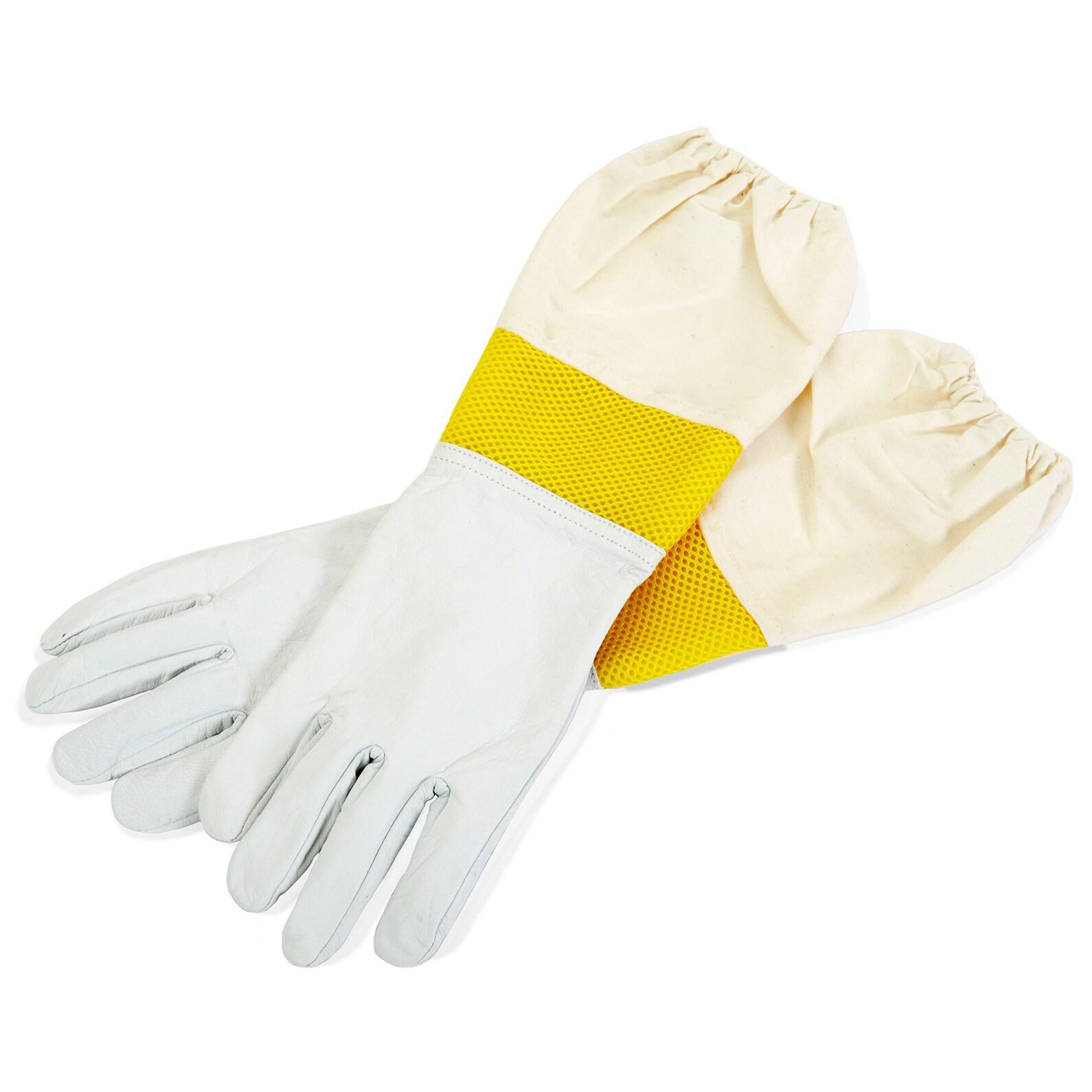 Little Giant Farm & Ag Medium Giant Goatskin Gloves (Bee ...