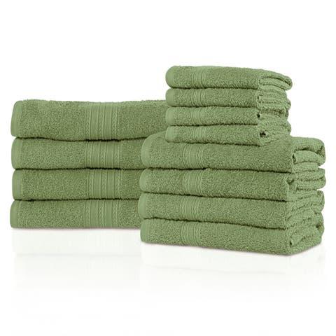 Miranda Haus Eco-Friendly 100-percent Ring-Spun Cotton 12-Piece Towel Set