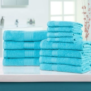 Superior Eco-Friendly 100-percent Ring-Spun Cotton 12-Piece Towel Set