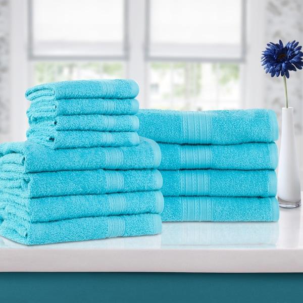 Superior Eco-Friendly 100-percent Ring-Spun Cotton 12-Piece Towel Set