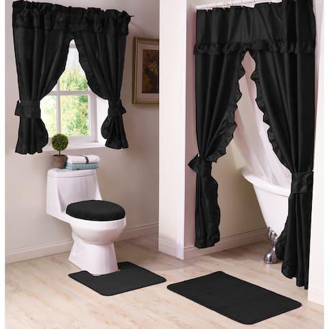 Starlite 11-Piece Shower Curtain and Window Curtain Bath Set