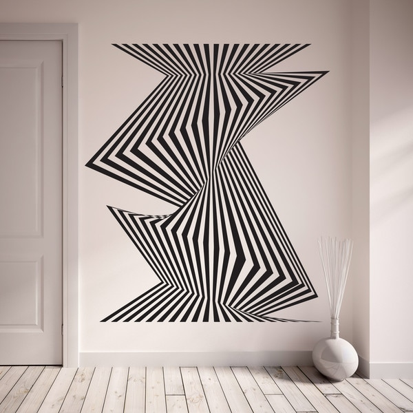 Style and Apply Optical Stripes Wall Decal