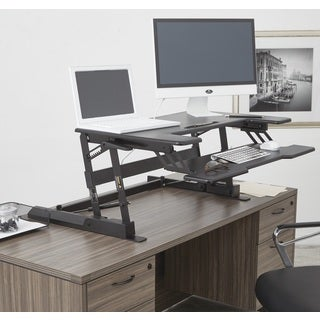 10-inch Height Adjustable Multi-position Black Desk Riser