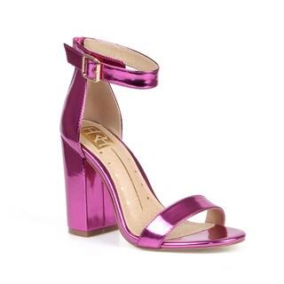 Fahrenheit Constance-01 Chunky Heel Women's Patent High Heel Sandals