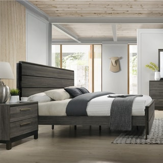 Ioana 187 Antique Grey Finish Wood King Size Bed