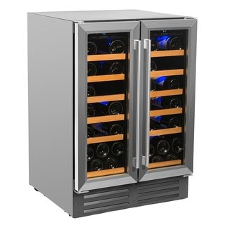 Smith & Hanks 40 Bottle Dual Zone Wine Cooler