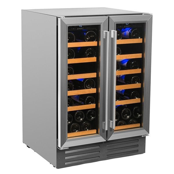 Smith U0026amp; Hanks 40 Bottle Dual Zone Wine Cooler