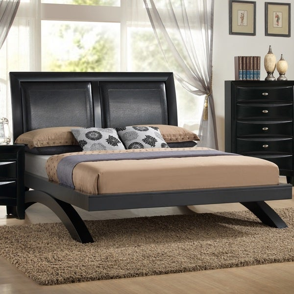 Shop Blemerey 110 Black Wood Arch Leg Queen Bed Free