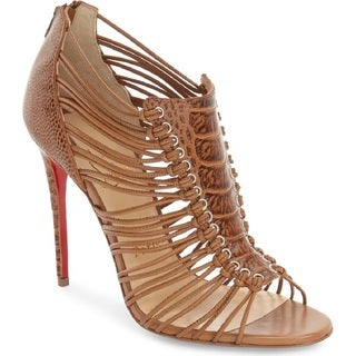 Christian Louboutin Amal 100 Beige Leather Shoes