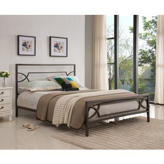 Pewter Metal Bed