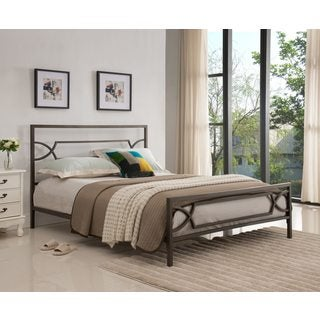 Pewter Metal Bed (2 options available)