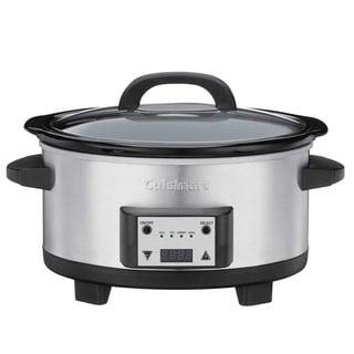 Cuisinart PSC-625FR Cuisinart PSC-625FR 6.5-Quart Programmable Slow Cooker Silver (Refurbished)