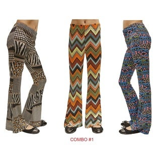 Dinamit Big Girls Printed Bell Bottoms
