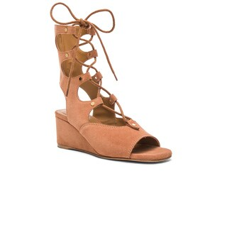 Chloe Foster Suede Wedge Sandals