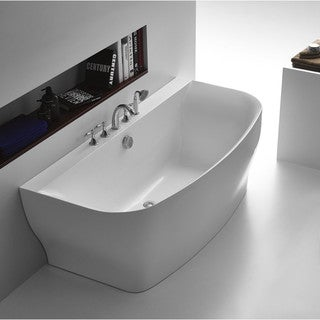 ANZZI Bank Series 5.41 ft. Freestanding Bathtub in White