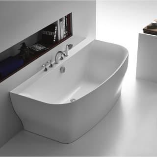 5 ft freestanding soaking tub. ANZZI Bank Series 5 41 ft  Freestanding Bathtub in White Tubs For Less Overstock com