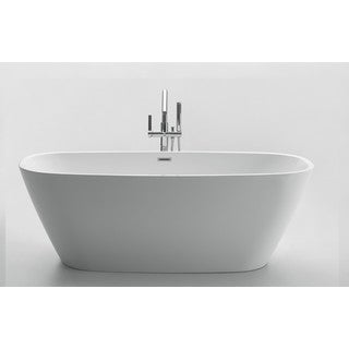 ANZZI Bridge Series 5.58 ft. Freestanding Bathtub in White