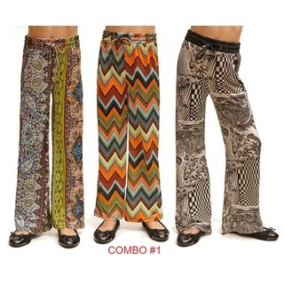 Dinamit Big Girls Printed Jersey Palazzo Pants