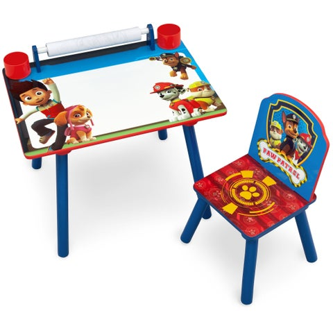 Nick Jr. PAW Patrol Art Desk with Dry-Erase Tabletop by Delta Children - Red/Blue/White