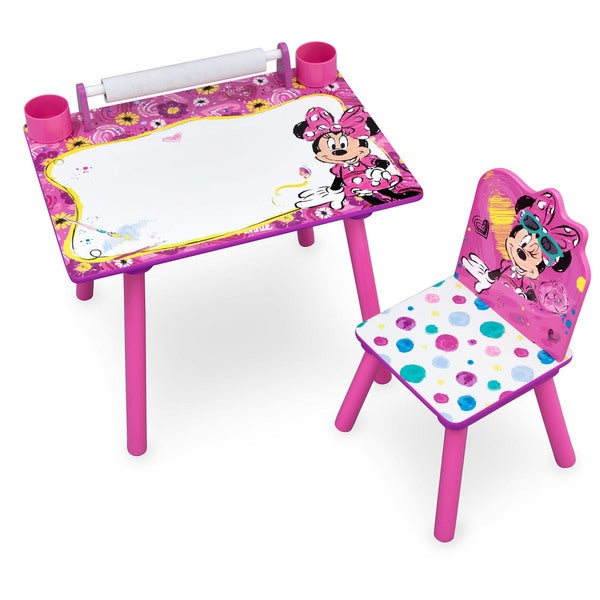 Disney Minnie Mouse Art Desk With Dry Erase Tabletop By