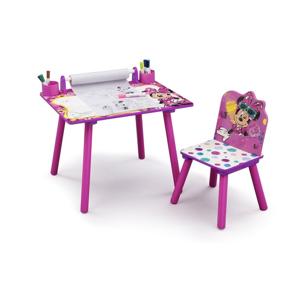 Disney Minnie Mouse Art Desk With Dry Erase Tabletop By Delta Children    Free Shipping Today   Overstock.com   21517024
