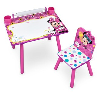 Disney Minnie Mouse Art Desk with Dry-Erase Tabletop by Delta Children
